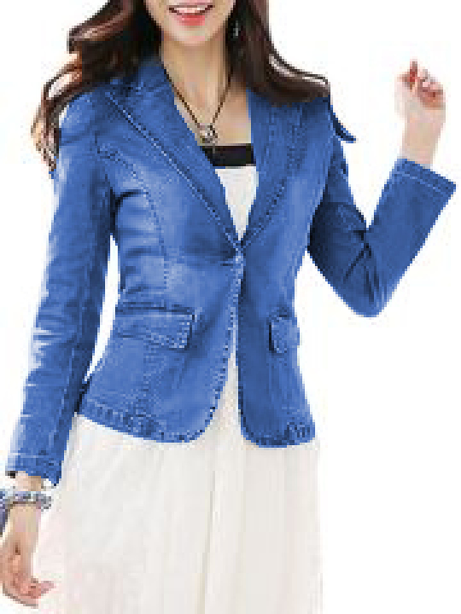 Absorbing Lapel Elegant Concise Jackets