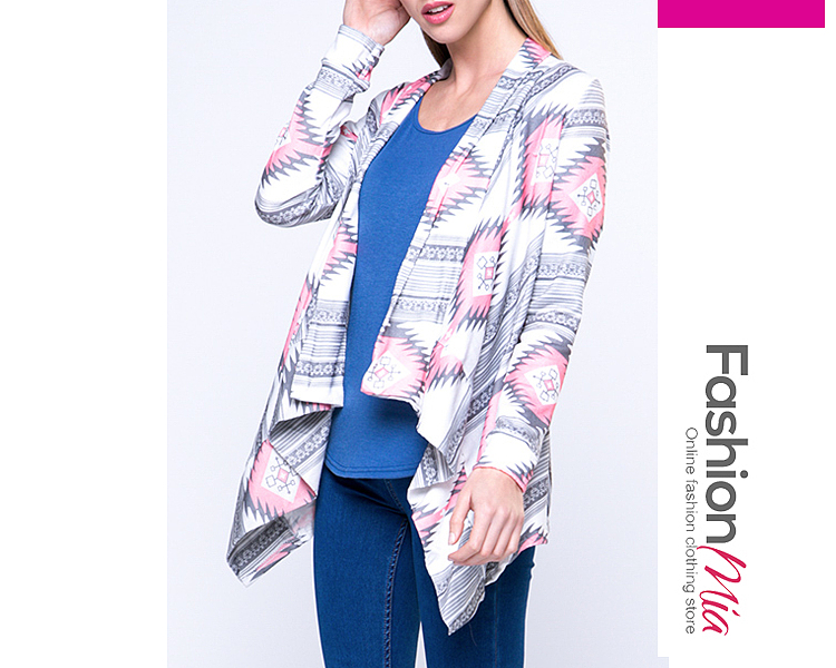 gender:women, hooded:no, thickness:regular, material:knit, collar&neckline:lapel, sleeve:long sleeve, pattern_type:geometric, occasion:casual,date, season:autumn,spring, package_included:top*1, bustsleeve lengthlength
