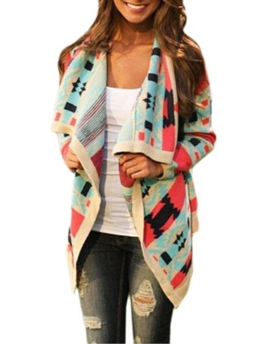 Assorted Colors Alluring Lapel Cardigan