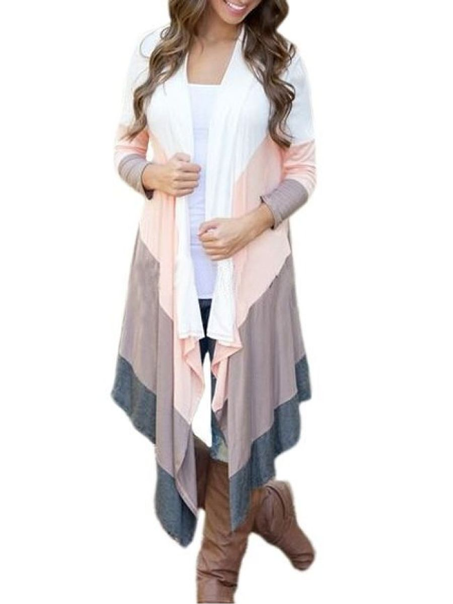 Irregular Hems Assorted Colors Attractive Cardigan