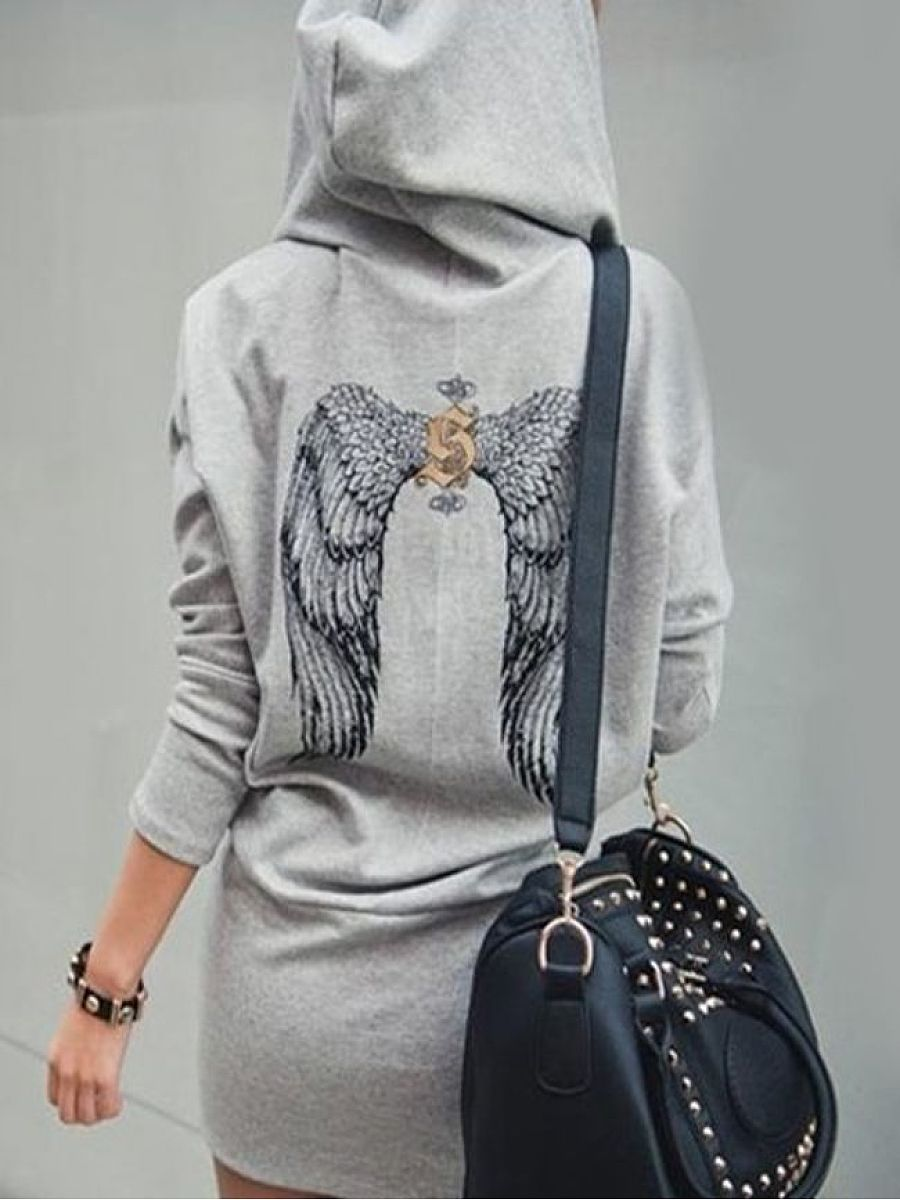 Wing With Zips Stylish V Neck Hoodies