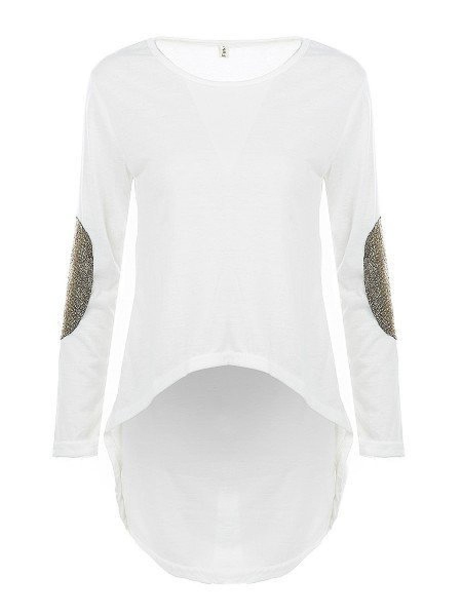 Autumn Spring  Women  Round Neck  Plain Long Sleeve T-Shirts