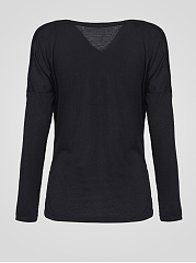 Color Block Comfortable Cowl Neck Long Sleeve T-Shirt