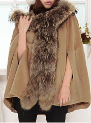 Trendy Chic Hooded Overcoat Woolen Cape