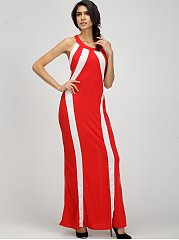 Attractive Halter Assorted Color Party-dress