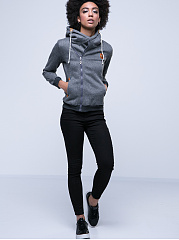 Plain With Pockets With Zips Extraordinary Hoodie