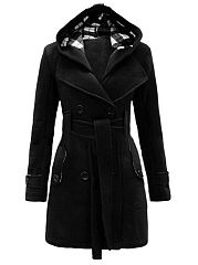 Fabulous Hooded Breasted Woolen Coat