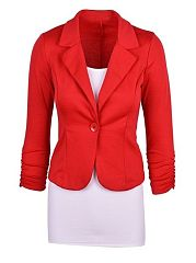 Fancy Plain Fancy Lapel Blazer