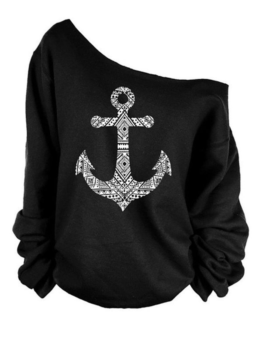Most Popular One Shoulder Printed Long-Sleeve-T-Shirts