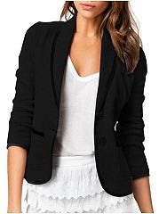 Fancy Lapel With Pockets Assorted Colors Blazers