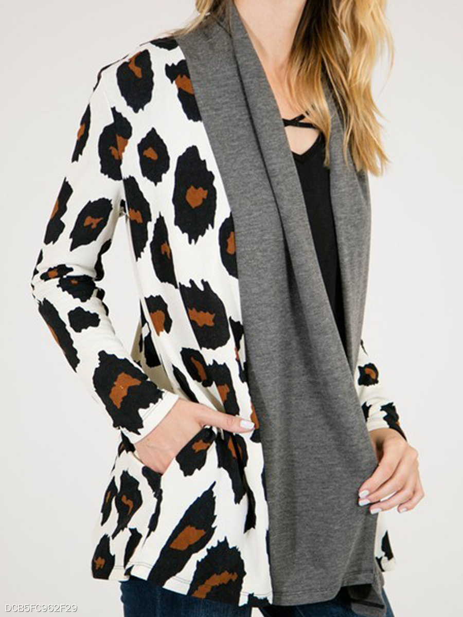 Leopard  Long Sleeve Cardigans