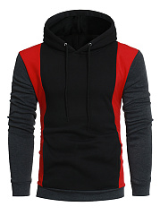 Stylish Color Block Pocket Men Hoodie