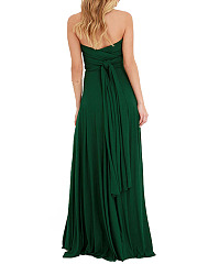 Halter  Multi-Way  Plain  Polyester Maxi Dress