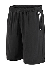Contrast-Trim-Quick-Dry-Zips-Pocket-Mens-Shorts