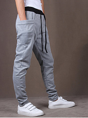 Draped Pocket  Pegged Men's Casual Pants