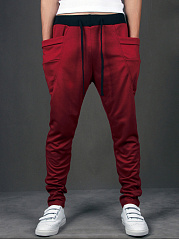 Pegged Draped Pocket Men's Casual Pant