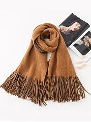 Soft-Warm-Woolen-Plaid-Scarf-Tassel-Fringe-Decoration-For-Winter