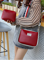 Two Pieces Pu Leather Shoulder Bag
