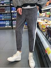 Color-Block-Slim-Leg-Mens-Casual-Pants