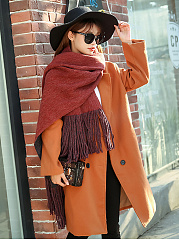 Warm Woolen Tassel Decoration Scarf For Winter