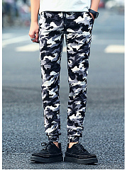 Camouflage-Pocket-Slim-Leg-Mens-Casual-Pants