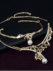 Luxury Faux beads Jewelry Sets