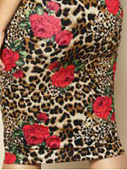 Off Shoulder  Leopard Printed Plus Size Bodycon Dress