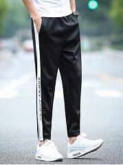 Color-Block-Letters-Slim-Leg-Mens-Casual-Pants