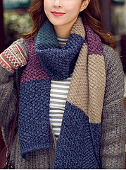 Long-Warm-Woolen-Color-Block-Thick-Scarf