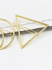 Gold Hollow Triangle  Shape Hair Clip