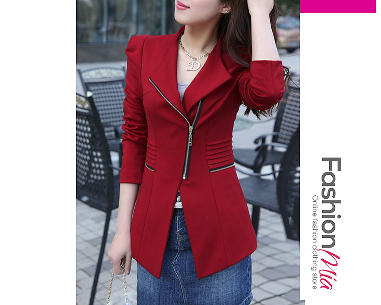 gender:women, hooded:no, thickness:regular, brand_name:fashionmia, outerwear_type:blazer, style:elegant,fashion, material:polyester, collar&neckline:lapel, sleeve_type:puff sleeve, sleeve:long sleeve, embellishment:zips, supplementary_matters:all dimensions are measured manually with a deviation of 2 to 4cm., occasion:office, season:autumn, package_included:top*1, lengthshouldersleeve lengthbustwaist