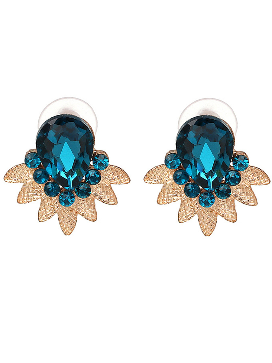 Exquisite Faux Crystal Stud Earrings