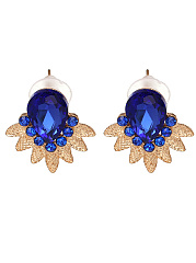 Exquisite Imitated Crystal Stud Earrings