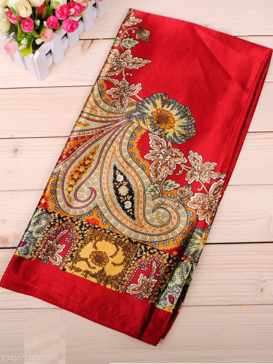 New High Quality Printed Satin Scarf