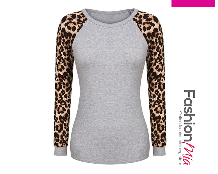 material:blend, collar&neckline:round neck, sleeve_type:raglan sleeve, sleeve:long sleeve, pattern_type:leopard, occasion:casual, season:autumn,spring, package_included:top*1, lengthsleeve lengthbustwaist