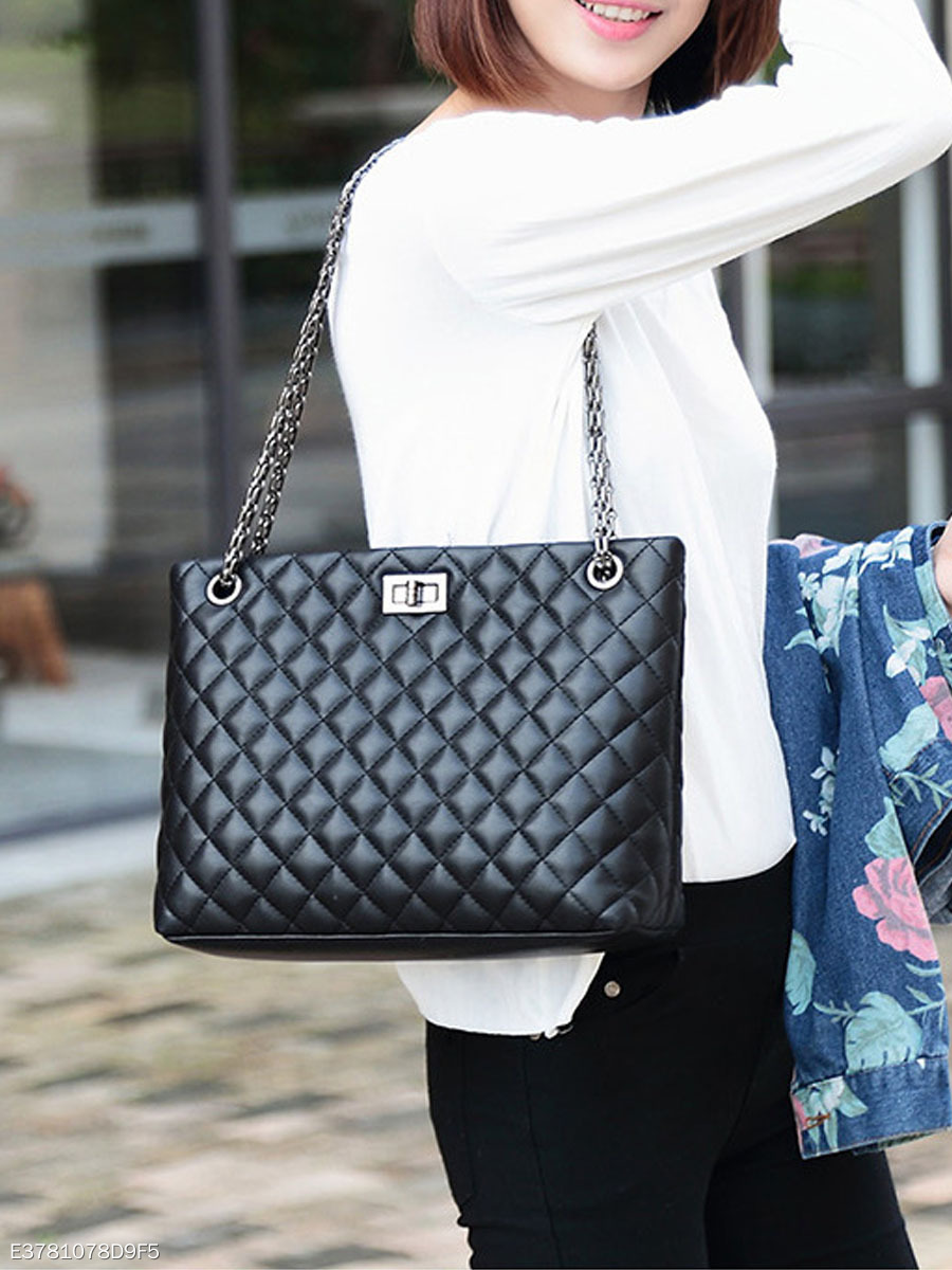 Classic Quilted Balck Chain Shoulder Bag