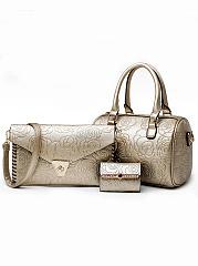 Fashion-Europe-Stylish-Striped-Hand-Bag-(Three-Pieces)