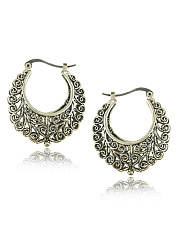 Sterling Alloy Hollow Out Earrings