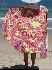 Special Pattern Printed Round Beach Shawl