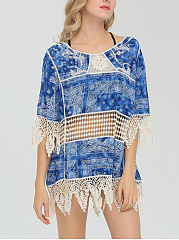 Round-Neck-Patchwork-Lace-Tunic