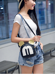 Small Leisure Cute Mini-Mickey Crossbody Bag