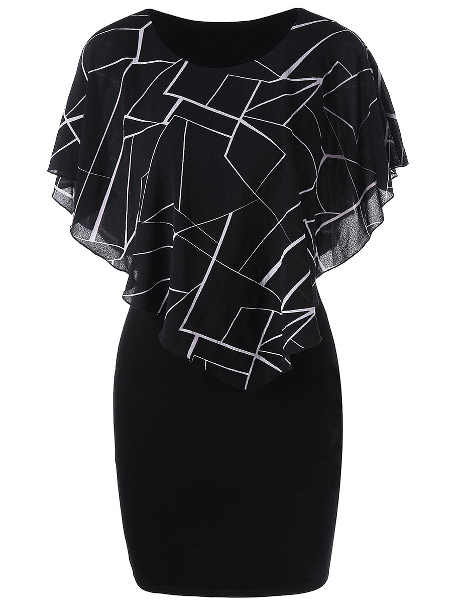 Summer Geometric Printed Bodycon Dress