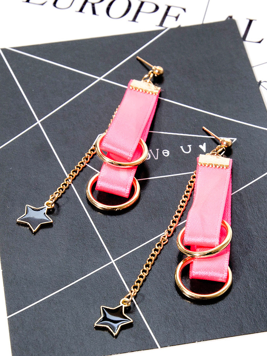 Chic Candy Color Ribbon Earrings