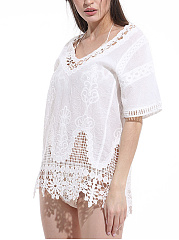 Crochet Lace Plain Tunic