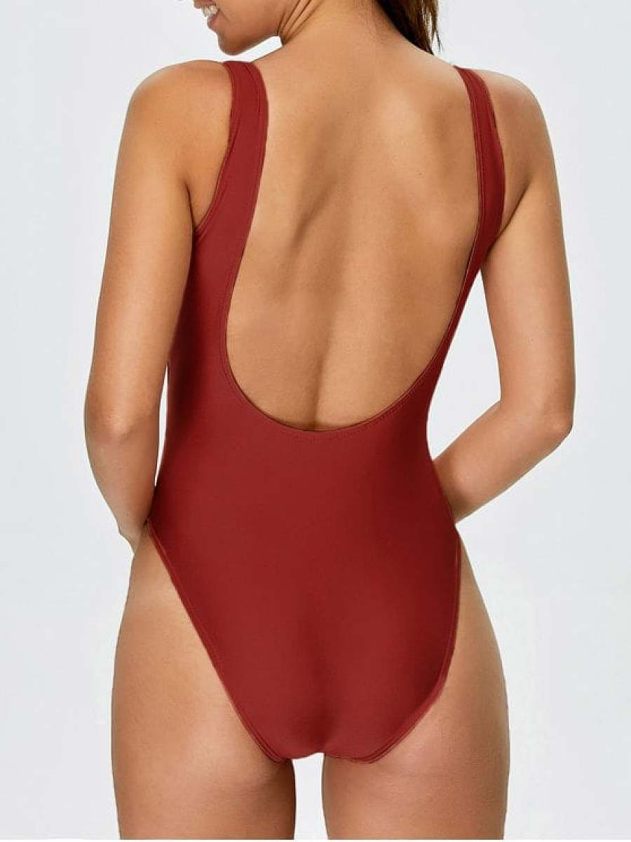 High Cut Backless Swimsuit