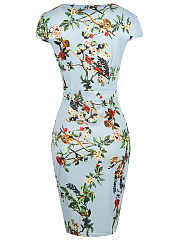 Sweet Heart  Floral  Blend Bodycon Dress