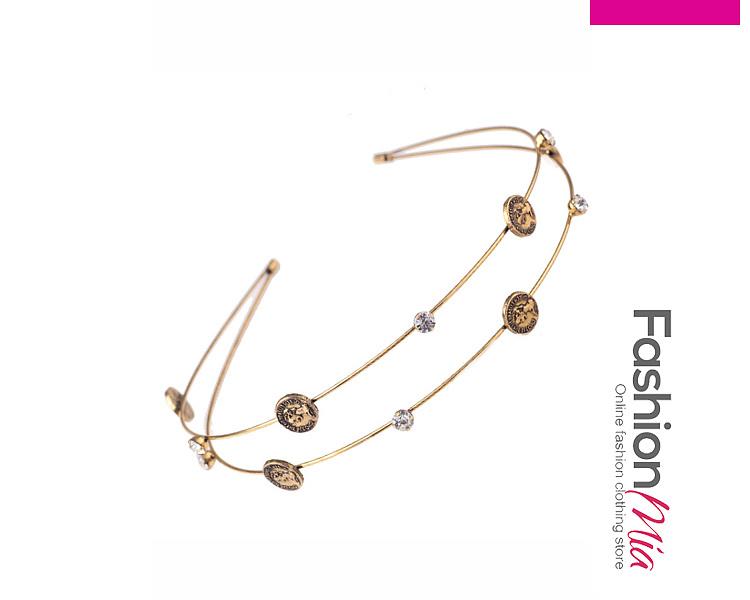 Layers Gold Coin Headband Hair Accessories