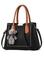Decortive Bear Plain Shoulder Bags For Women