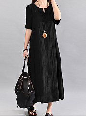 Sweet Heart  Plain Maxi Dress