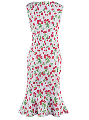 Cherry Printed Mermaid Bodycon Dress